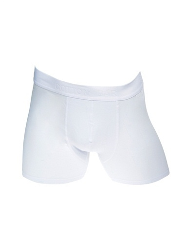 Cotton Bar Boxer Beyaz